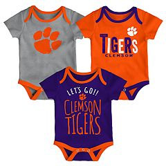 Baby Clemson Tigers Little Tailgater Bodysuit Set