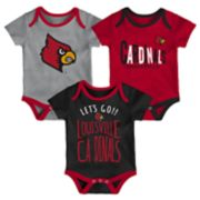 Baby Louisville Cardinals Little Tailgater Bodysuit Set