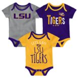 Baby LSU Tigers Little Tailgater Bodysuit Set