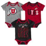 Baby Utah Utes Little Tailgater Bodysuit Set