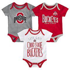 Baby Ohio State Buckeyes Little Tailgater Bodysuit Set