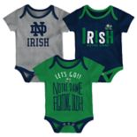 Baby Notre Dame Fighting Irish Little Tailgater Bodysuit Set