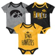 Baby Iowa Hawkeyes Little Tailgater Bodysuit Set
