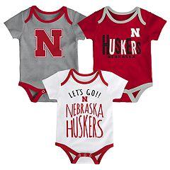 Baby Nebraska Cornhuskers Little Tailgater Bodysuit Set