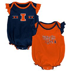 Baby Girl Illinois Fighting Illini Homecoming Bodysuit Set
