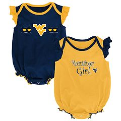 Baby Girl West Virginia Mountaineers Homecoming Bodysuit Set