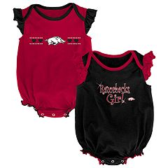 Baby Girl Arkansas Razorbacks Homecoming Bodysuit Set