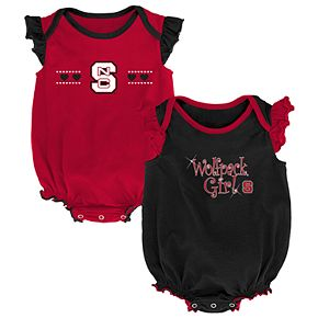 Baby Girl North Carolina State Wolfpack Homecoming Bodysuit Set