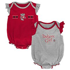 Baby Girl Wisconsin Badgers Homecoming Bodysuit Set