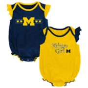 Baby Girl Michigan Wolverines Homecoming Bodysuit Set