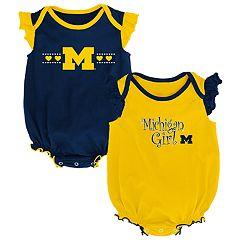 Baby Girl Michigan Wolverines Homecoming Bodysuit Set