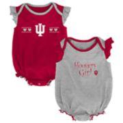 Baby Girl Indiana Hoosiers Homecoming Bodysuit Set