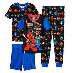 Boys 4-10 Lego Ninjago 4-Piece Pajama Set
