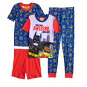 Boys 4-10 Lego Batman 4-Piece Pajama Set