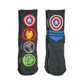 Boys 4-20 Avengers 2-Pack Crew Socks