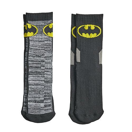 Boys 4-20 Batman 2-Pack Crew Socks