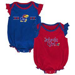 Baby Girl Kansas Jayhawks Homecoming Bodysuit Set