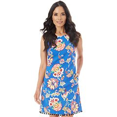Women's Apt. 9® Printed Pom Dress