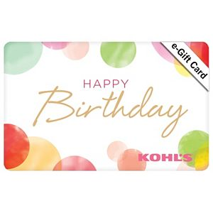Happy Birthday Balloons Gift Card 2 Regular