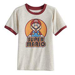 Boys 4-10 Jumping Beans® Retro Super Mario Ringer Graphic Tee