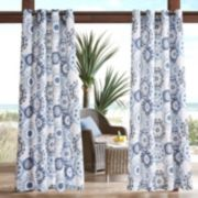 Madison Park 1-Panel Carmel Medallion Outdoor Curtain