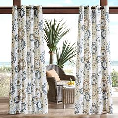 Madison Park Carmel Medallion Outdoor Curtain