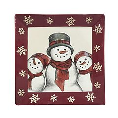 St. Nicholas Square® Yuletide Square Dinner plate