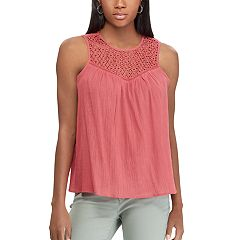 Women's Chaps Lace Yoke Swing Tank