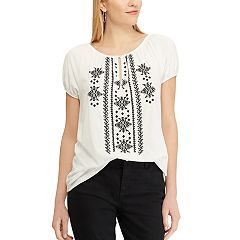 Women's Chaps Embroidered Peasant Top