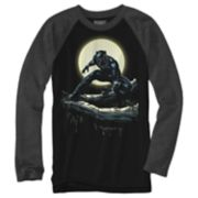 Boys 8-20 Black Panther Moon Tee
