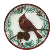 St. Nicholas Square® Yuletide Cardinal Glass Plate