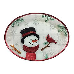 St. Nicholas Square® Yuletide Oval Glass Platter