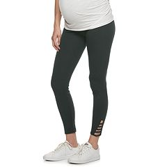 Maternity a:glow Full Belly Panel Ladder Leggings