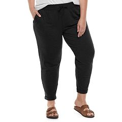 Plus Size SONOMA Goods for Life™ French Terry Mid-Rise Jogger Sweatpants