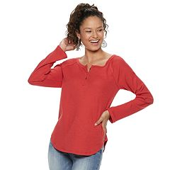 Juniors' SO® Thermal Henley Top