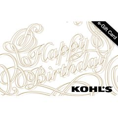 Gold Birthday E-Gift Card