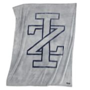 IZOD Sheared Gray Logo Throw
