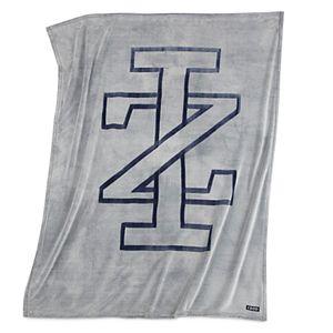 IZOD Sheared Gray Logo Throw