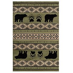 United Weavers Woodside Bear Imprint Rug
