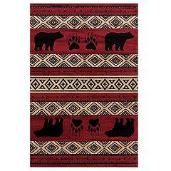 United Weavers Woodside Bear Imprint Rug