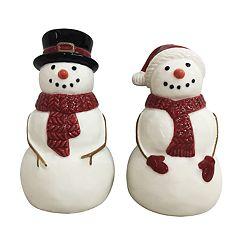 St. Nicholas Square® Yuletide Snowman Salt & Pepper Shaker Set