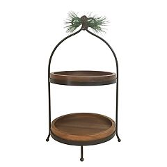 St. Nicholas Square® Yuletide Wood 2-Tier Server
