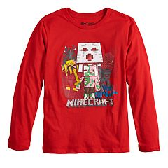 Boys 8-20 Minecraft Nether Group Tee