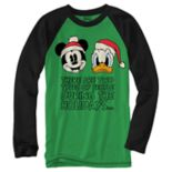 Boys 8-20 Disney Mickey Mouse & Donald Duck Christmas Tee