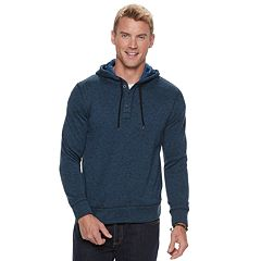 Men's SONOMA Goods for Life™ Supersoft Modern-Fit Sweater Fleece Henley Hoodie