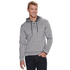 Men's SONOMA Goods for Life™ Supersoft Sweater Fleece Henley Hoodie