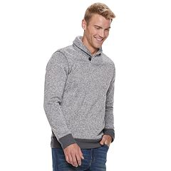 Men's SONOMA Goods for Life™ Modern-Fit Supersoft Sweater Fleece Shawl-Collar Sweater