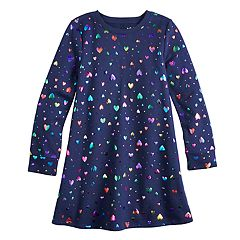 Girls 4-12 Jumping Beans® Glittery Fleece Swing Dress