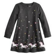 Girls 4-12 Jumping Beans® Glittery Fleece Swing Dress