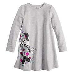 Disney's Minnie Mouse Girls 4-12 Glittery Dot Fleece Swing Dress by Jumping Beans®
